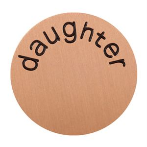 Picture of 'Daughter' Large Rose Gold Coin